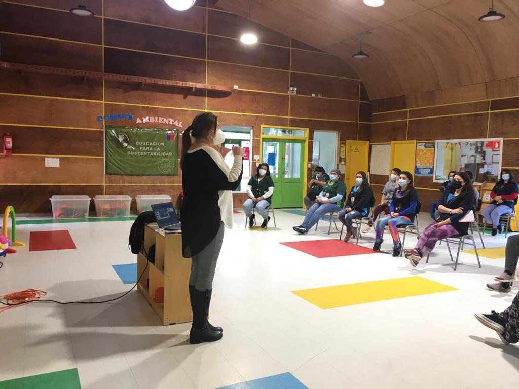 Jardines infantiles Integra de Aysén reciben charlas sobre calidad del Aire